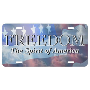 Patriotic Freedom The Spirit of America License Plate
