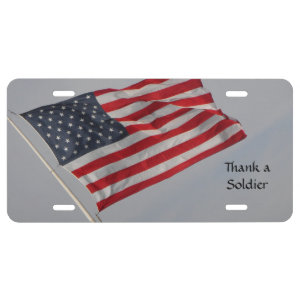 Thank our Service Members Licence Plate ~ 4