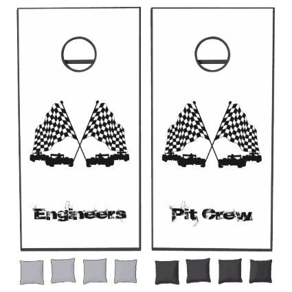 Race Cars Custom Text Cornhole Set