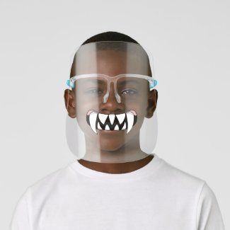Cartoon Monster Teeth Mouth Face Shield