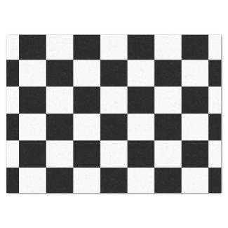 Checkered Black and White Tissue Paper