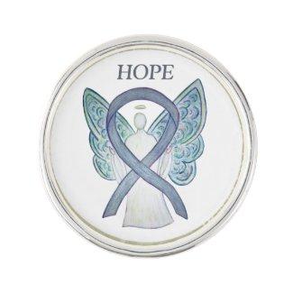Gray Awareness Ribbon Angel Custom Lapel Pin