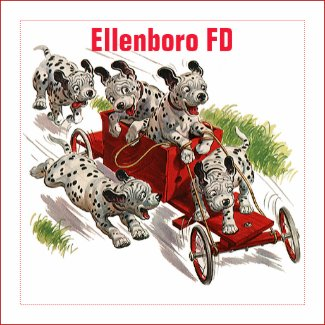 Vintage Humor Cute Dalmatian Puppy Dogs Fire Truck Magnet