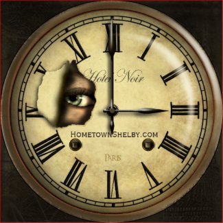 Creepy Hotel Clock Personalized Magnet