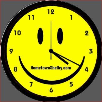 Happy Hippy face clock Magnet
