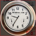 Clock and Currency Magnet