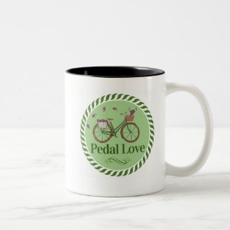 Love Bicycle Black & White Mug