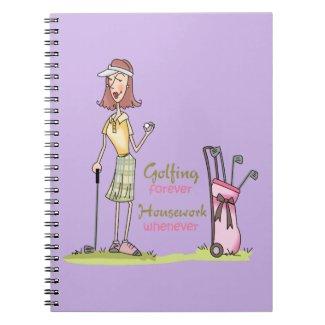 Golfing Forever Notebook