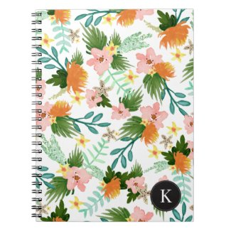 Coastline Floral Spiral Notebook