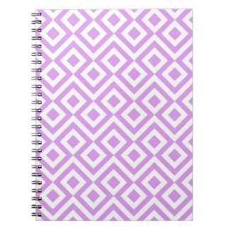 Lavender and White Meander Notebook