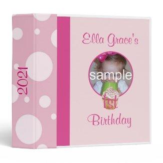 1st Birthday Photo Album 3 Ring Binder