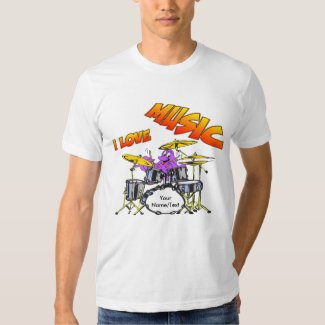 Music Octopus Customizable Men's T-shirt