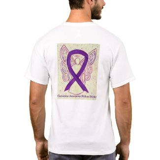 Purple Ribbon Angel Cause Awareness Custom Shirts