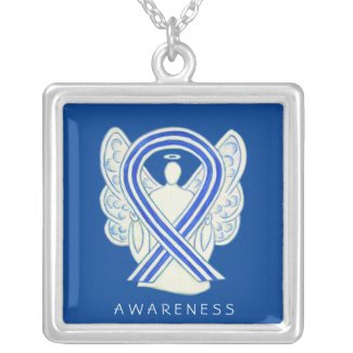 ALS Awareness Ribbon Angel Jewelry Necklace
