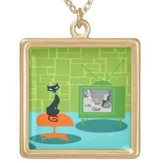 Retro Black Cat Necklaces