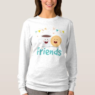 Coffee and Cookie Best Friend Long Sleeve T-Shirt