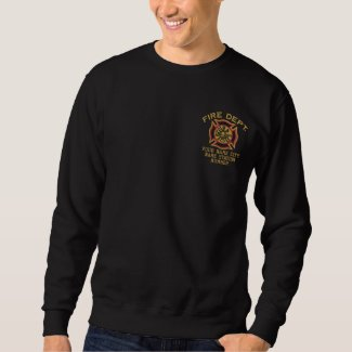 Ready to Personalize Fire Department Firefighter Embroidered Sweatshirt