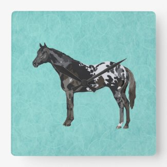 Favorite Horse Breed Square Wall Clock