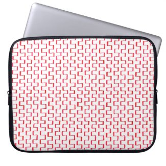 Painted Red Geometric Pattern Laptop Sleeves