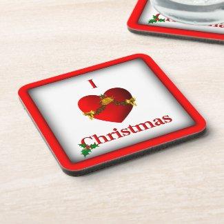 I Heart Christmas Coaster