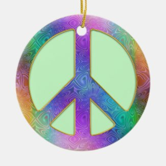 Peace Begins Within Christmas Tree Ornament
