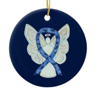 Thyroid Disease Awareness Ribbon Angel Ornament