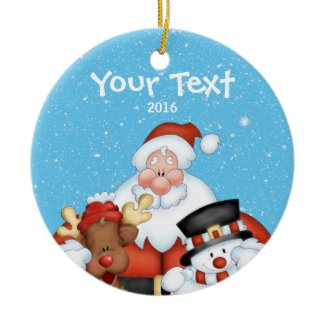 Personalized Santa Christmas Ornament
