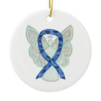 Thyroid Disease Awareness Ribbon Angel Ornaments