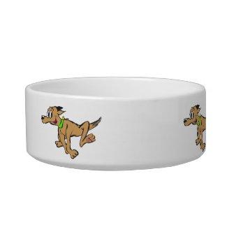 Running Dog Cartoon Customizable Pet Bowl