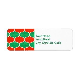 Christmas Holiday Ogee Pattern address labels