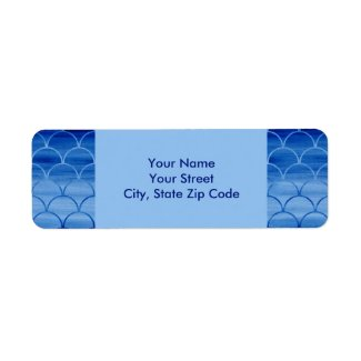 Painted Blue Scale Pattern return address labels