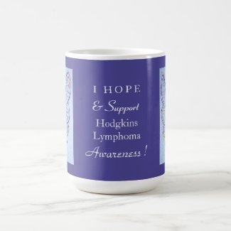 Hodgkins Lymphoma Disease Awareness Ribbon Mug