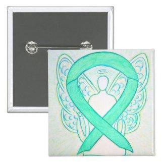 Jade Green Angel Awareness Ribbon Custom Pin