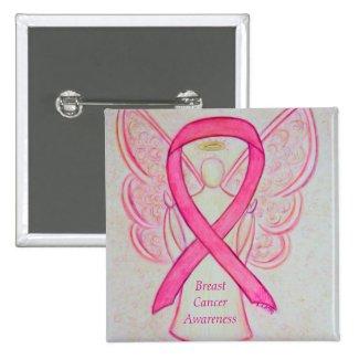 Breast Cancer Angel Pink Awareness Ribbon Art Pins
