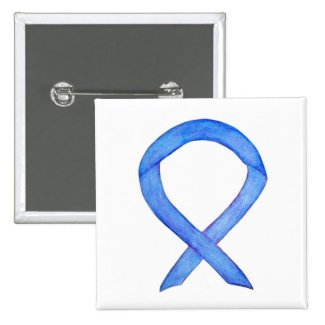 Violet Awareness Ribbon Custom Art Pins