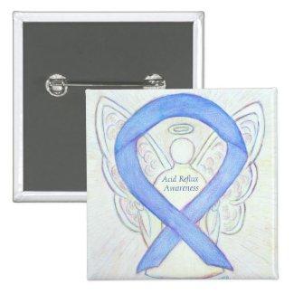 Acid Reflux Awareness Periwinkle Ribbon Angel Pins