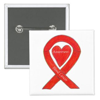 Blood Cancer Heart Awareness Ribbon Custom Pin