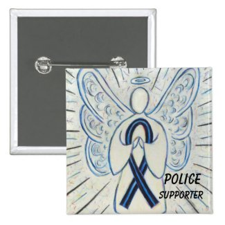 Police Supporter Angel Awareness Ribbon Pins