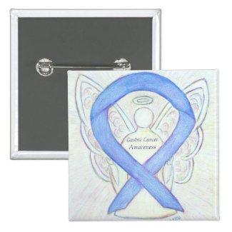 Gastric Cancer Angel Awareness Ribbon Custom Pin