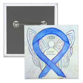 Cancer Awareness Violet Ribbon Angel Custom Pins