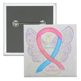 Baby Safe Haven Awareness Angel Ribbon Pin