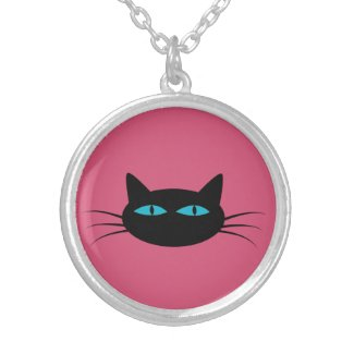 Blue-Eyed Black Cat Necklaces
