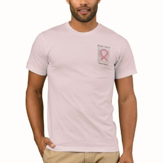 Breast Cancer Awareness Pink Ribbon Angel Tee