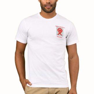 Marfan Syndrome Awareness Red Ribbon Custom Shirts