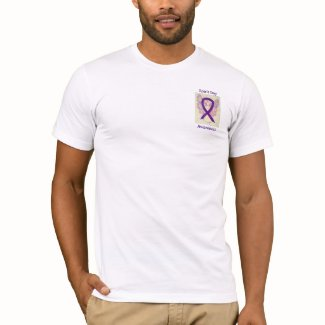 Spirit Day Awareness Purple Ribbon Angel Tee