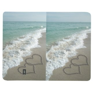 Interlocking Hearts on Beach Sand Journal