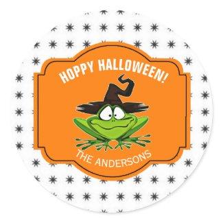 Hoppy Halloween Classic Round Sticker