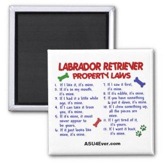 LABRADOR RETRIEVER Property Laws Magnet