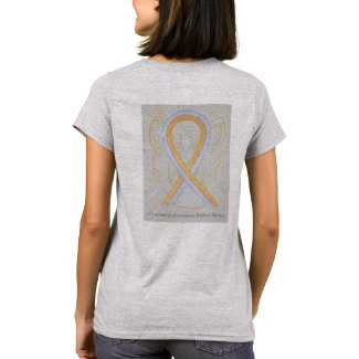 Silver and Gold Ribbon Awareness Custom Shirts