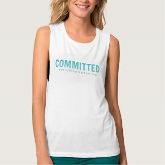 Committed to fitness! tank top
